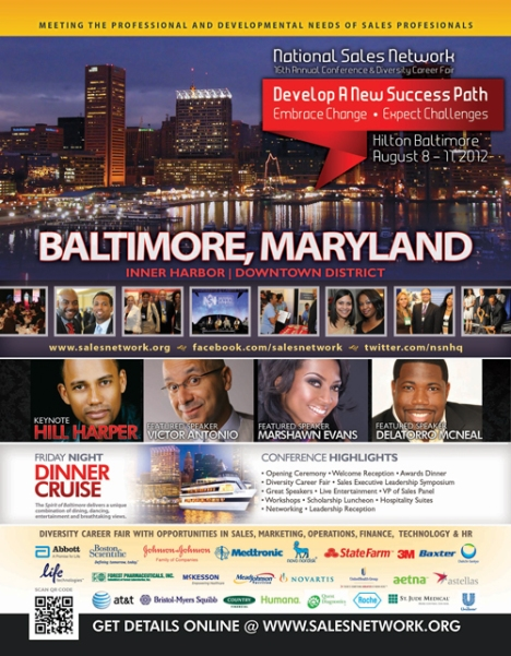 National Sales Network (NSN) Ad in April's Black Enterprise magazine